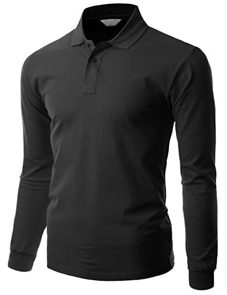0dfe0150e Men s cotton PK Silket Polo Dri Fit Long sleeve Collar Shirt BLACK size XS