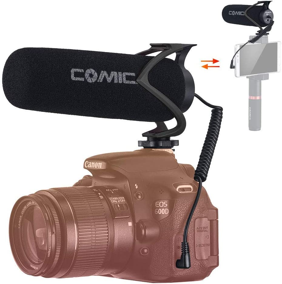 comica CVM-V30 Lite Micrófono Camara Reflex, Micrófono Externo ...