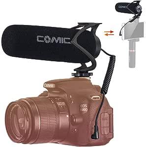 comica CVM-V30 Lite Micrófono Camara Reflex, Micrófono Externo para Camara, Micrófono Condensador Supercardioide para Cámaras Fotográfico, Micrófono DSLR Microfono Smartphone Direccional …: Amazon.es: Electrónica