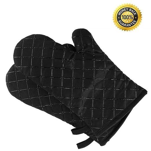 VOYAGE Juegos de guantes para horno, guantes de cocina resistentes ...