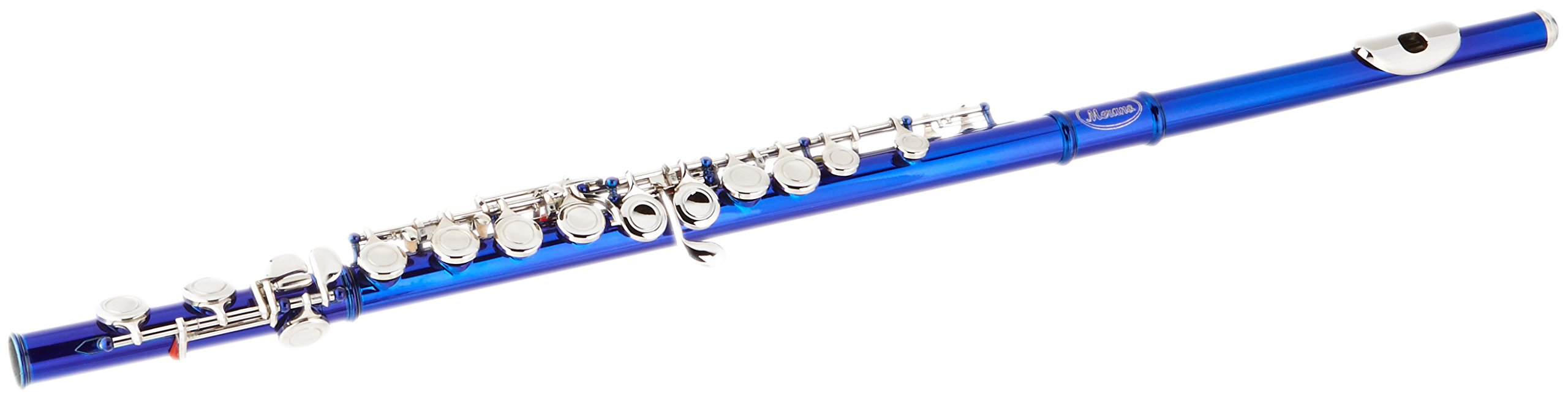 Merano WDF406BL Lacquer Plated Flute Key Of C with Case, Blue