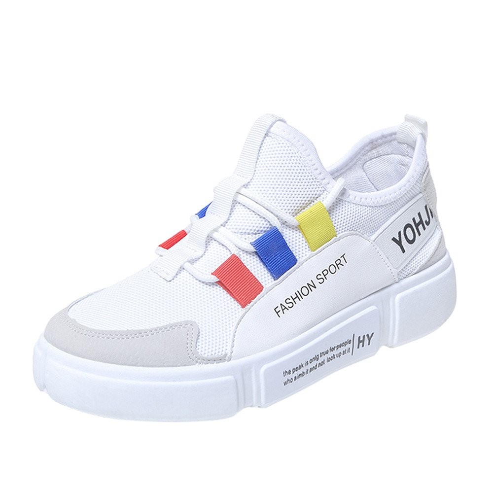US5, White Women Athletic Walking Shoes