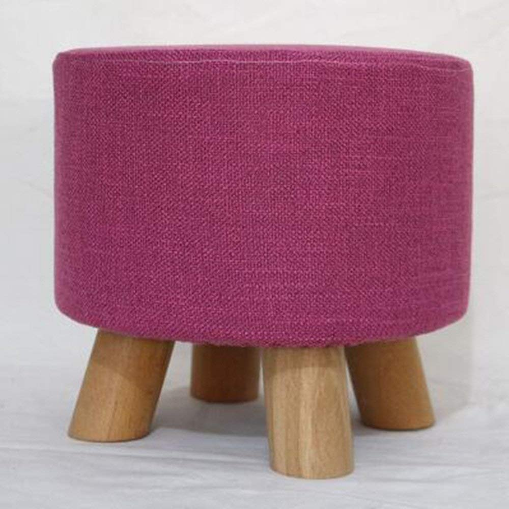 QTQZ Brisk- Solid Wood Chair Fashion Small Stool Creative Sofa Chair Wood for Shoe Stool Fashion Home Coffee Table Sofa Stool (Color Optional) (Color: 10)