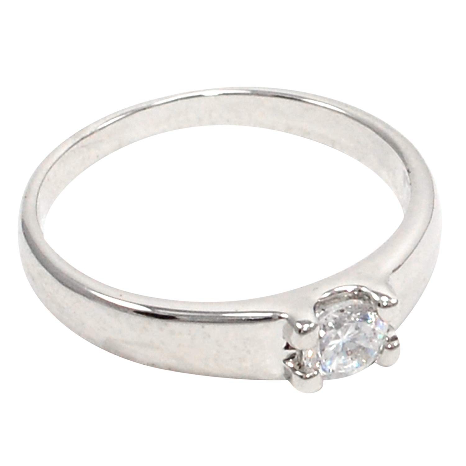 Saamarth Impex Cubic Zircon 925 Silver Plated Ring Sz 7 PG-108140