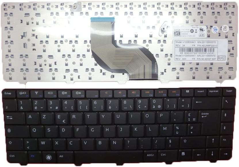 Laptop Keyboard for DELL Inspiron 13 N3010 14 M4010 N4020 N4030 14R N4010 15 N5030 M5030 FR French 0H7W3P H7W3P AEUM8F00110 NSK-DJH0F New