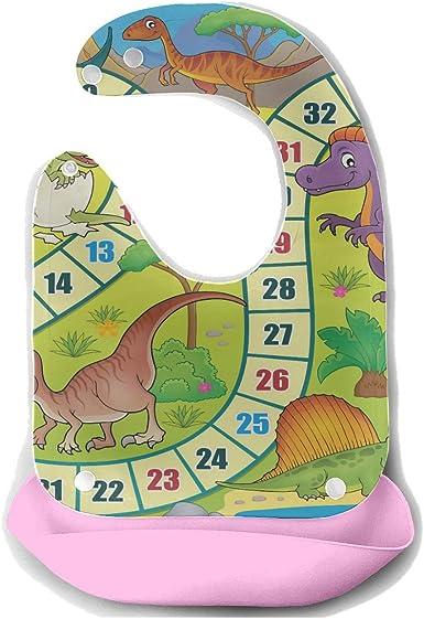 Juego de mesa de baberos grandes para bebés con tema de dinosaurio 1 Eps10 Vector Il