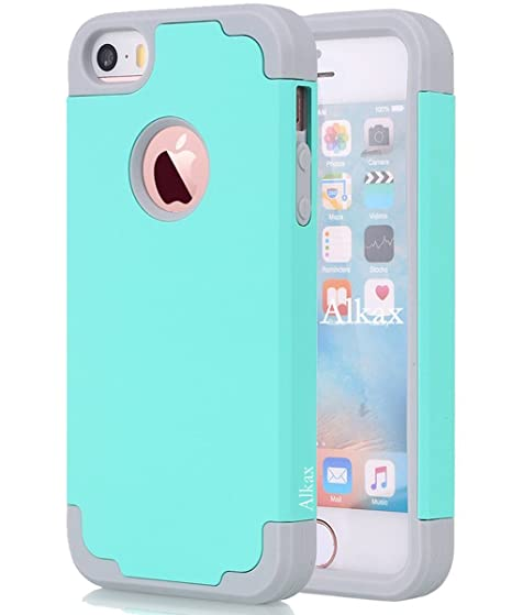 pretty nice 24cac f6548 Amazon.com: iPhone SE Case, iPhone 5S Case, iPhone 5 Case,Alkax Dual ...