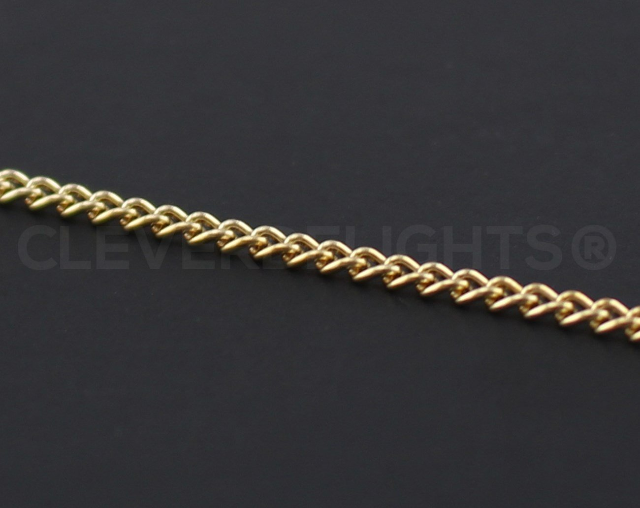 CleverDelights Curb Chain Spool - 2.2x3mm Link - Gold Color - 30 Feet - Bulk Jewelry Roll by CleverDelights (Image #3)
