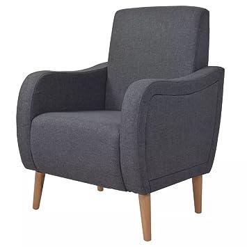 Luckyfu esta sillón de Tela, Color Gris Oscuro.sillón cómodo ...