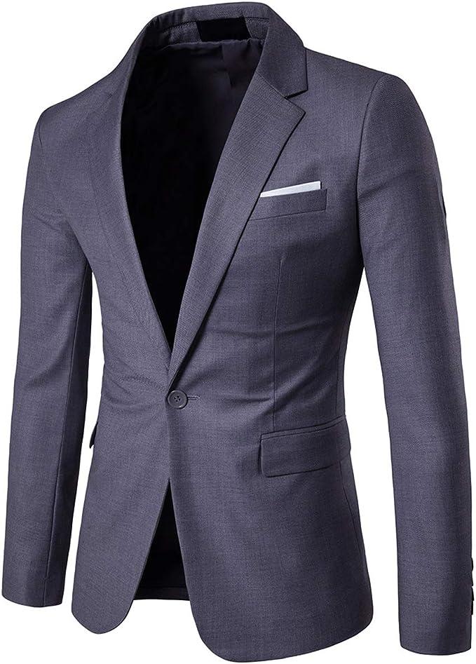 Men's Suit Jacket One Button Slim Fit Daily Blazer