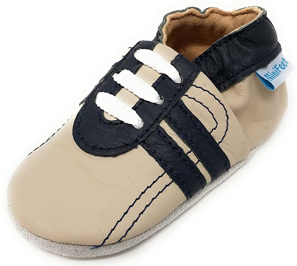 MiniFeet - Chaussures cuir souple bébé, Chaussure de Sport 0-6, 6-12, 12-18,...