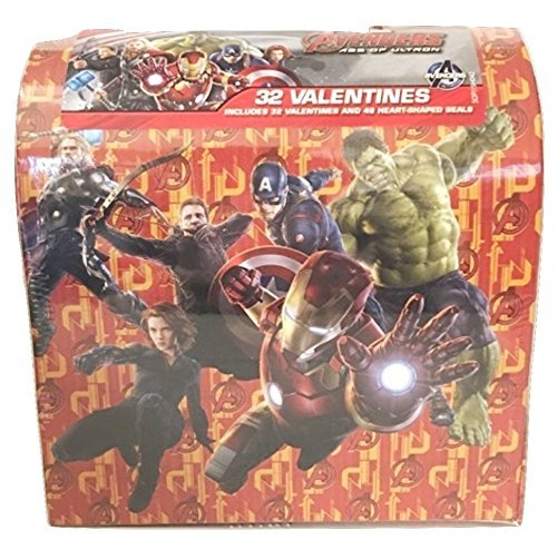 Marvel Avengers Age of Ultron Valentines Exchange Mailbox ~ Includes 32 cards