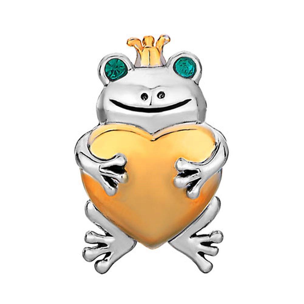 compatible avec les bracelets /à breloques de fabrication europ/éenne Breloque Sug Jasmin prince grenouille