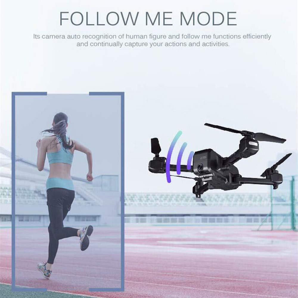 Sonmer SJRC Z5 WIFI FPV HD Camera Live View Selfie Drone, With Headless Mode 360° Flip GPS Fixed Height Follow Me Active Track Auto Home Hand Gesture Function by Sonmer (Image #4)