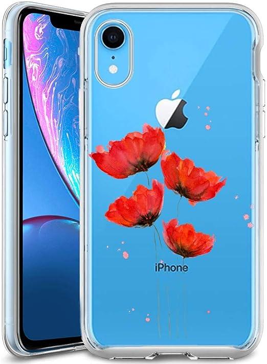 Coque iPhone Xr Slim Fit Soft Mince Turtle Mer Natation avec Méduse Mobile Phone Clear Case avec Antidérapant Surface Matte Protection Clear Case pour ...