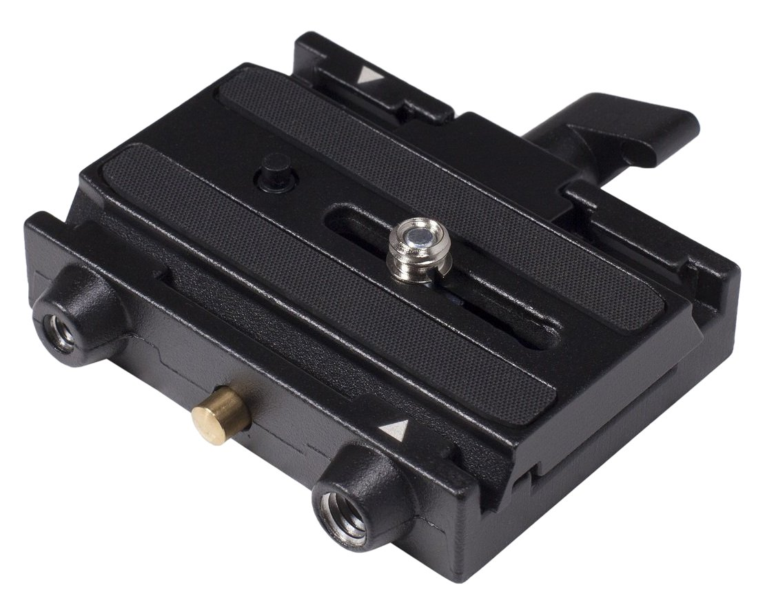 Manfrotto 577 Rapid Connect Adapter with Sliding Mounting Plate for Bogen/Manfrotto Tripods by Bogen
