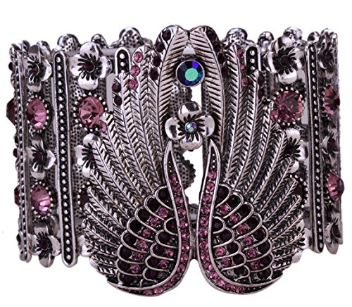 - YACQ Women's Guardian Angel Wings Stretch Cuff Bracelets Biker Costume Jewelry Accessories