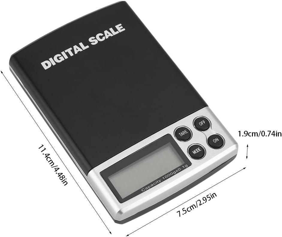 B/áscula electr/ónica Profesional con Pantalla LCD iluminada B/áscula Fina Negro LEMCASE B/áscula de Cocina Digital B/áscula Digital B/áscula de Bolsillo 3 kg // 0.1 g de Capacidad