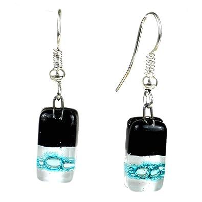 Pendientes pequeños de cristal con diseño de corbata negra - Tili ...