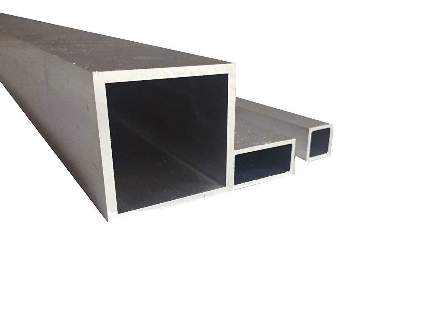 Aluminium Square Tube Rolled Bare (20  mm x 10  mm x 2  mm x 1000  mm) metalexpres