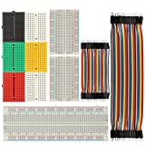 High Top Solderless Breadboard 170/400/830 Tie Point Prototype Breadboard for Arduino with 40/80 pcs Dupont wire (M/M) (9pcs breadboard+Dupont wire)
