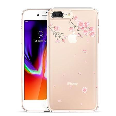 ESR iPhone 8 Plus Hülle, iPhone 7 Plus Hülle, Transparent [Weich Silikon][Ultra Dünn] mit süßes Motiv Schutzhülle für Apple i