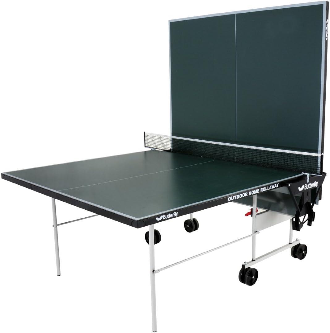 Butterfly - Mesa de ping-pong para exterior (plegable, con ruedas ...
