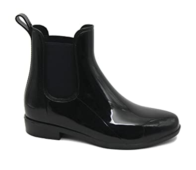 618fcc05103 Mobesano MS2910 Black Ladies Short Ankle Rain Boots 5