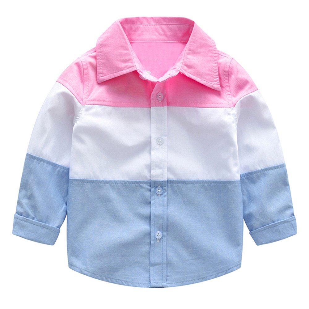 Winsummer Baby Boys Long Sleeve Button Down Flannel Plaid Shirt Kids Boys Girls Warm Shirts Coat Gentleman Tops
