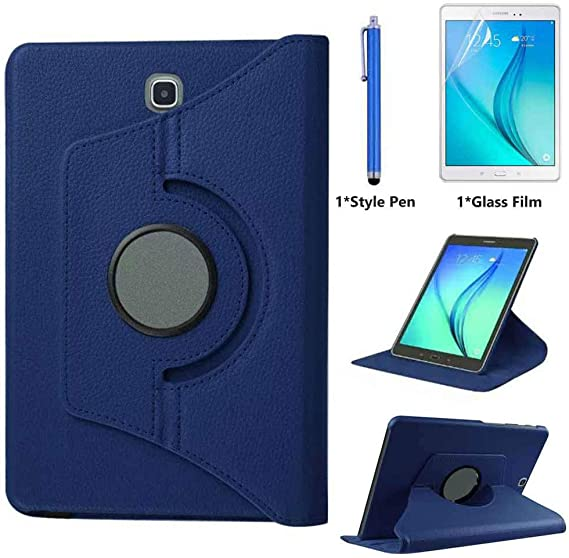 """360 Rotating PU Leather Case Stand Cover for Samsung Tab A 8.0/"""" 2015 T350 T355"""