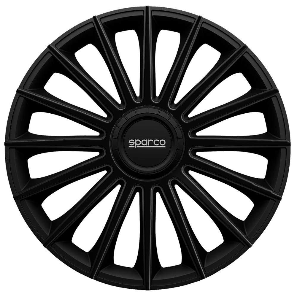 SPARCO spc1592bk Set Rueda Cubre Torino 15/Pulgadas Negro