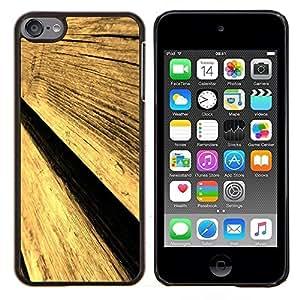KLONGSHOP // Cubierta de piel con cierre a presión Shell trasero duro de goma Protección Caso - Cerca de la pared de madera Arte Diseño Arquitectura Materiales - Apple iPod Touch 6 6th Touch6 //
