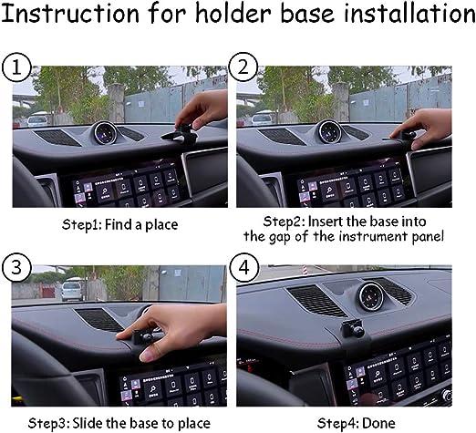 LUNQIN Car Phone Holder for Porsche Macan 2015-2020 Cayenne 2019-2020 Auto Accessories Navigation Bracket Interior Decoration Mobile Cell Phone Mount
