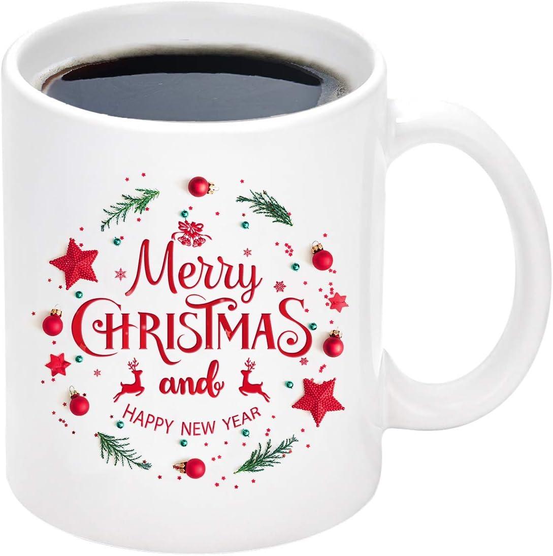 A great holiday season,Merry Christmas Mug Coffee Funny Coffee Cup Gift Men W...