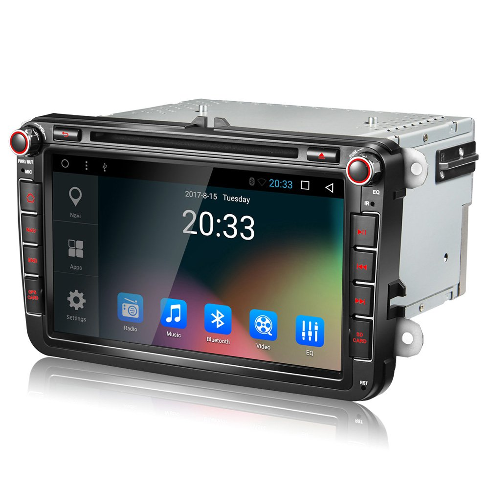 Amazon.com: Amaseaudio Upgrade Android 7.1 GPS Navigation for VW Golf Passat  CC Jetta Polo Skoda Seat 8 Inch Auto Double Din In Dash Car Stereo Head  Units: ...