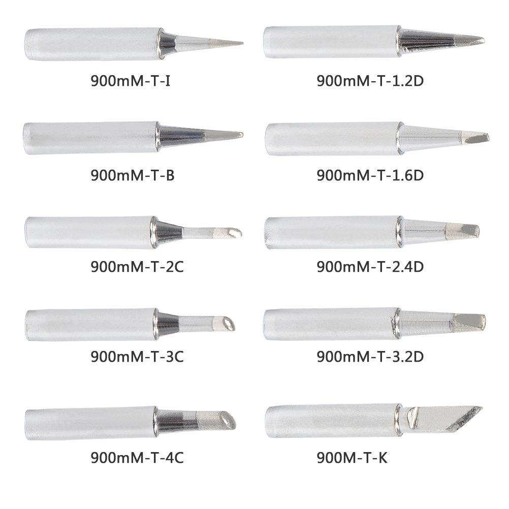 3C 10-Typen I 4C 1.2D 2.4D B 2C QLOUNI 10 St/ück L/ötkolben L/ötkolbenspitzen bleifrei L/ötspitze Ersatzl/ötspitzenset f/ür L/ötkolben 900M-Serie K 1.6D 3.2D