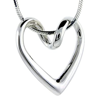 Amazon sterling silver floating heart necklace flawless quality sterling silver floating heart necklace flawless quality 34 x 34 inch aloadofball Images