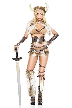 dc5b36bd Amazon.com: 8 PC. Ladies Modern Day Viking Costume Set: Clothing