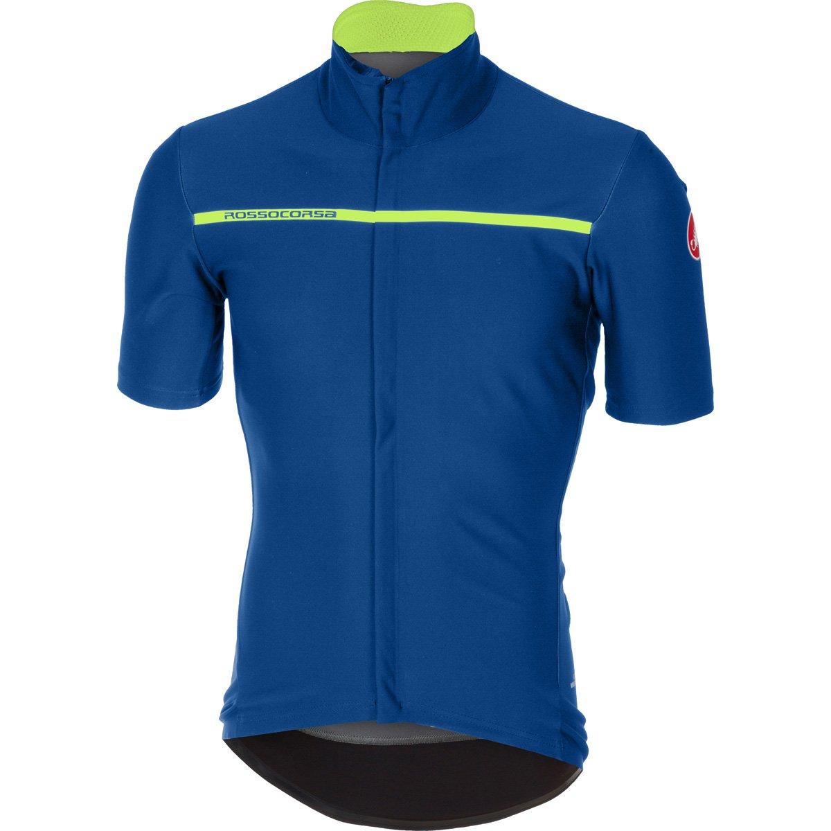 CastelliメンズGabba 3半袖サイクリングjacketb17084 B075ZMTZ7Y 3L|セラミックブルー セラミックブルー 3L