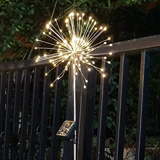 Li KererLuces de Navidad Luz de Hadas Luces solares de estallido Solar 120 Luces de jardín LED para Exteriores H623,0-5W, 1 Pieza Blanco cálido: Amazon.es: Jardín