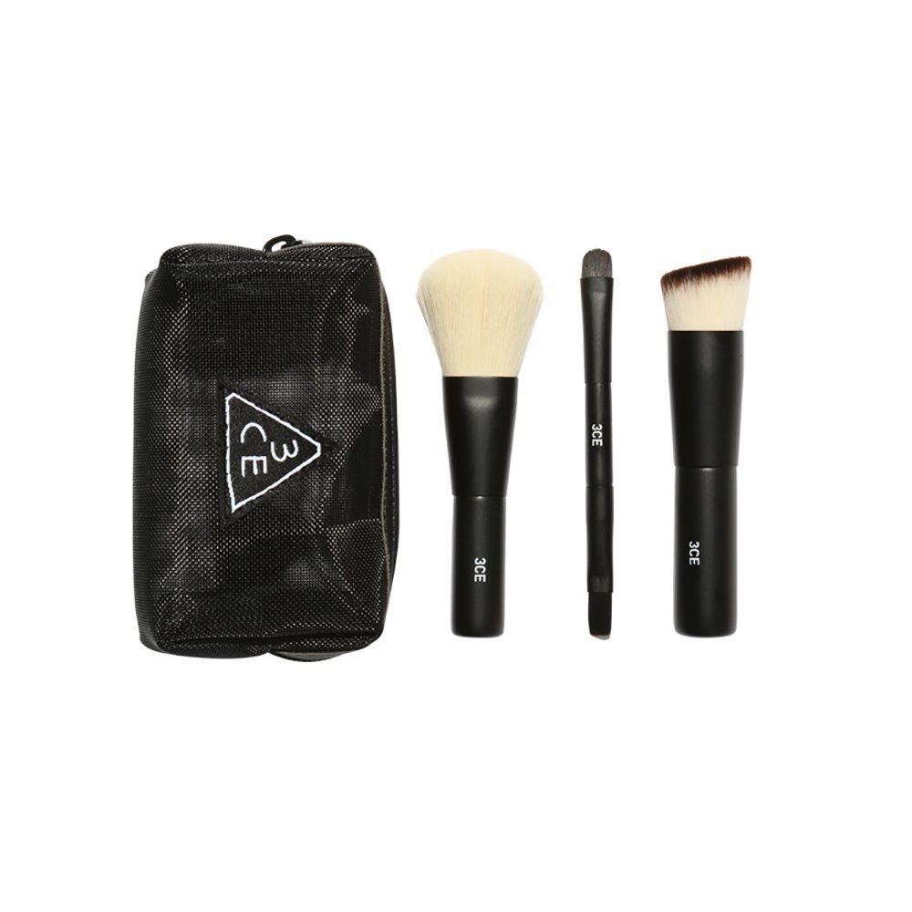 3CE Mesh Brush Kit Foundation Blush Lip and Eye Mini Size Brush Set