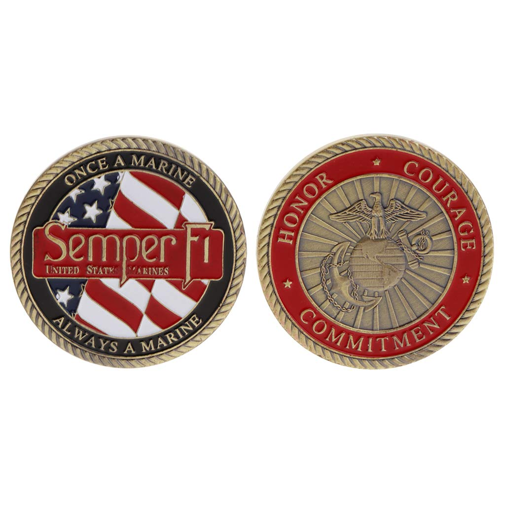 Exing coleccionistas Monedas Moneda Moneda Conmemorativa America Marine Corps tem/ática Honor Courage Compromiso