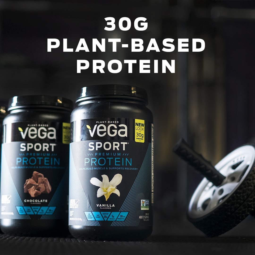 Vega Sport Protein Powder Chocolate (45 Servings, 4 lb 5.9oz) - Plant Based Vegan Protein Powder, BCAAs, Amino Acid, Tart Cherry, Non Dairy, Gluten Free, Non GMO (Packaging May Vary) by Vega (Image #4)