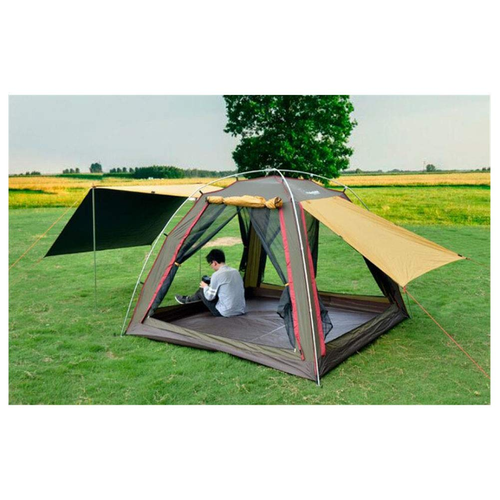 Zelt, 3-4 Personen Beach Camping Festival Fishing Family Zelte OverGrößed Ventilated Awning Anti UV-Zelte (240  240  170cm)
