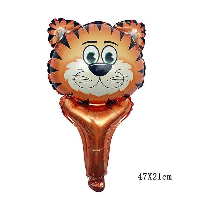1 piezas de dibujos animados animales mano palo globos león ...