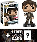 Captain Cassian Andor (Target Exclusive): Funko POP! x Star Wars Rogue One Vinyl Bobble-Head Figure w/ Stand + 1 FREE Official Star Wars Trading Card Bundle (104517)