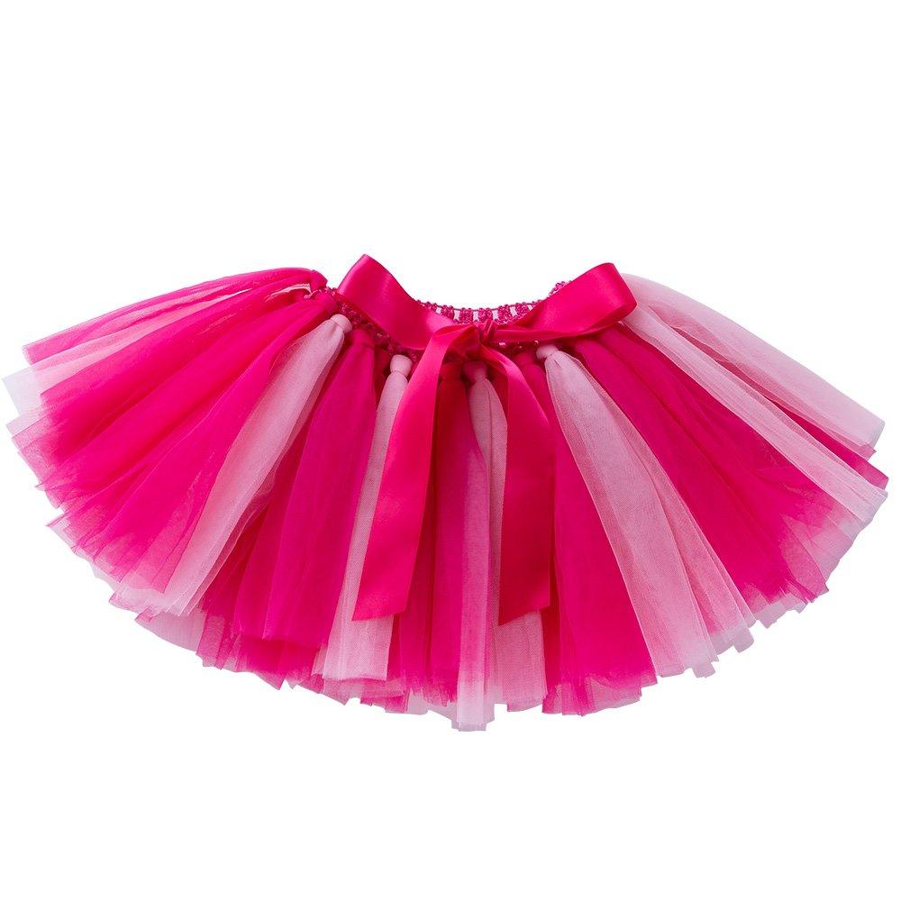 YukeBaby Summer Pettiskirt/6 Layered Baby Tutu Skirts for Girls/Handmade Lace Skirt Three Styles 0-2 Years Old
