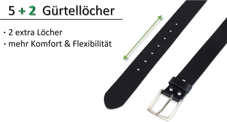Made in Germany Schwarz Frentree Damen G/ürtel 100/% Echt Leder 3.8 cm breit und 0.25 cm stark
