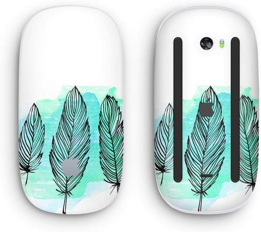 Pen /& Watercolor Feathers Wireless, Rechargable with Multi-Touch Surface Design Skinz Premium Vinyl Decal for The Apple Magic Mouse 2