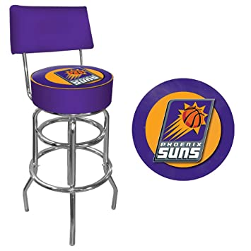 NBA Phoenix Suns Padded Swivel Bar Stool with Back